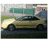 Photo VW CORRADO JAUNE 2L 16v 0693 avec carnet 219000km
