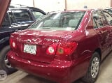 Photo Clean Toyota Corrola 2004 Red