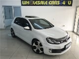 Photo White Volkswagen Golf VI 2.0 TSI GTI with...
